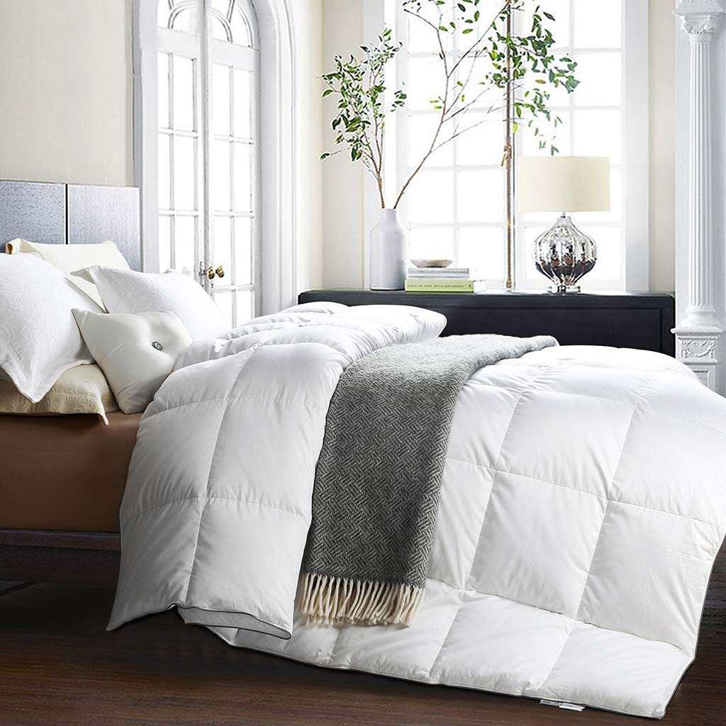 Goose Down Comforter Queen Size - Awenia