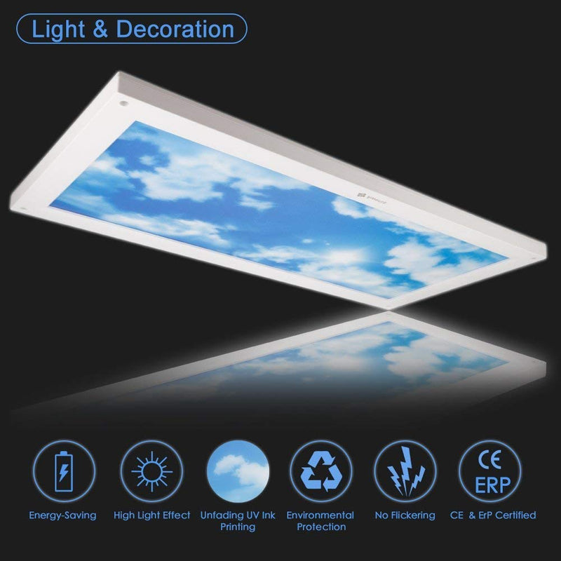 24W 6500K LED Ceiling Light (30x60cm)