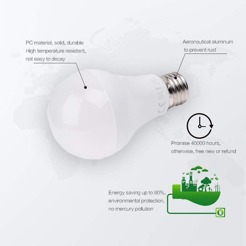 4000K Daylight Natural White LED Light Bulb - Awenia