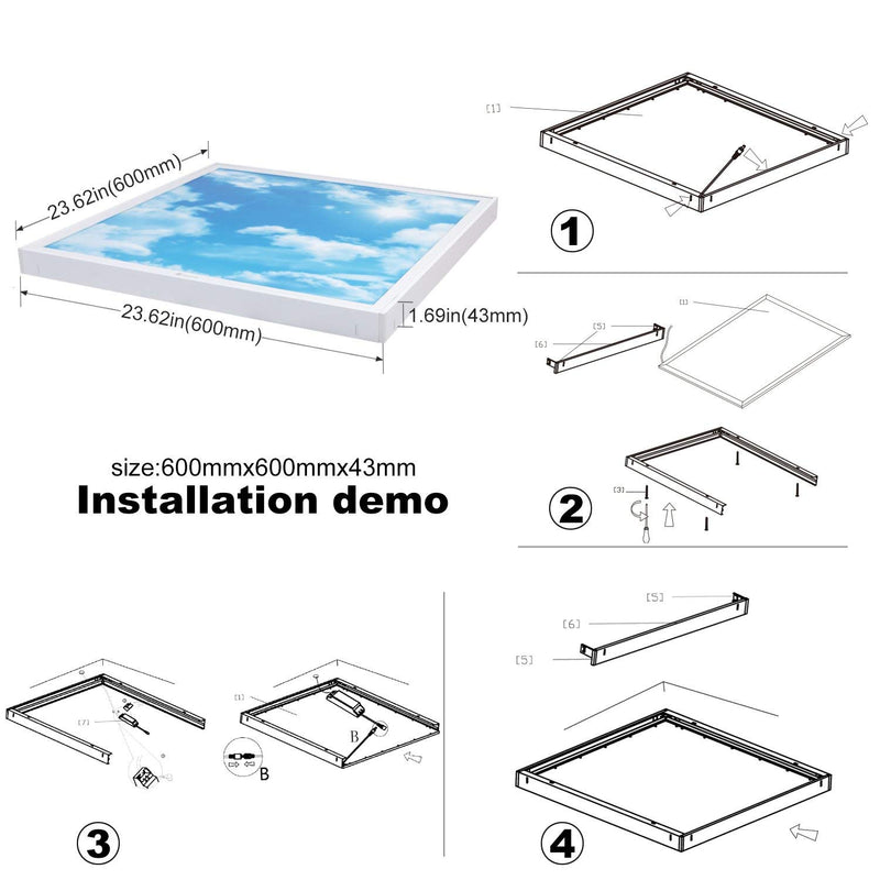 36W 6500K LED Ceiling Light (60x60cm)