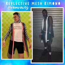 Load image into Gallery viewer, Reflective Mesh Kimono