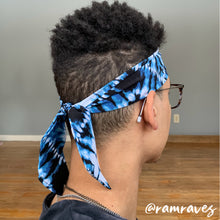 Load image into Gallery viewer, Virtual Blue Tie Dye Headband