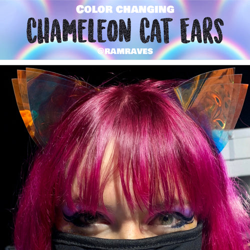 Chameleon Cat Ears- Color Changing