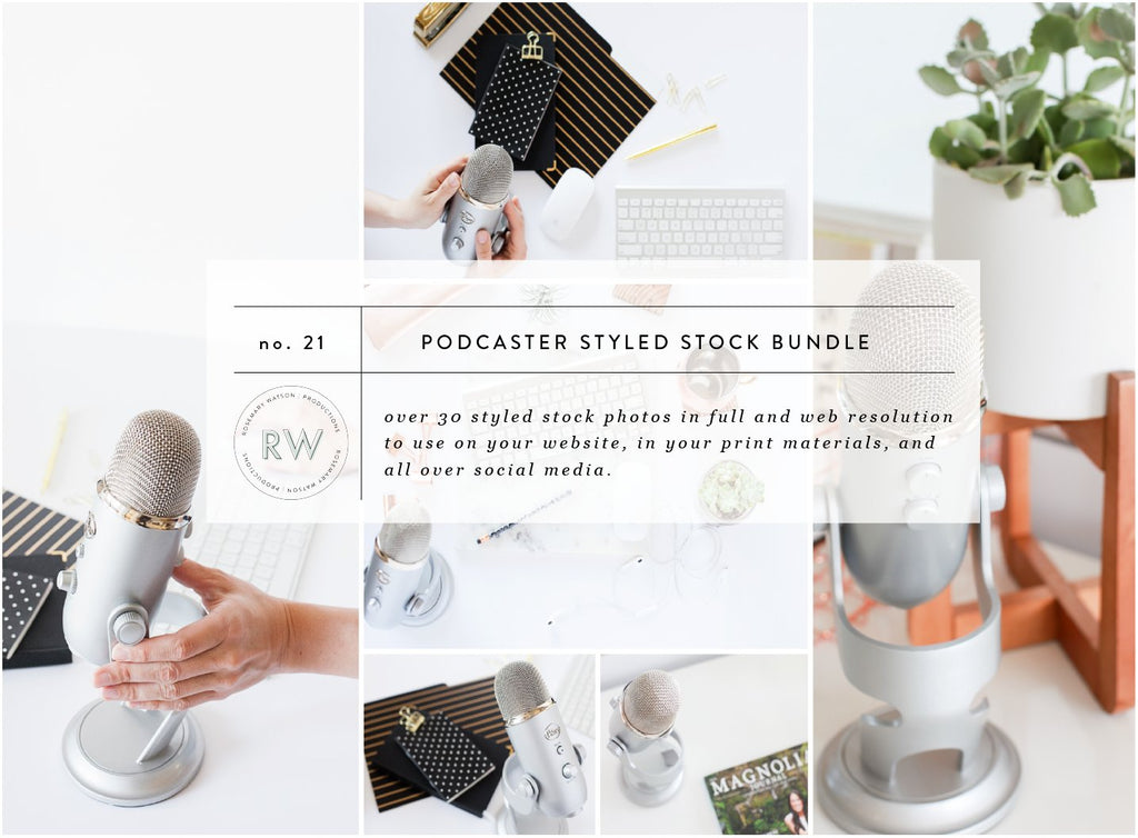 Podcaster Styled Stock Photo Bundle