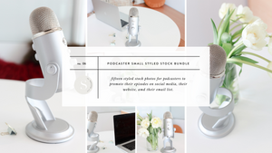 Podcaster Styled Stock Small Photo Bundle