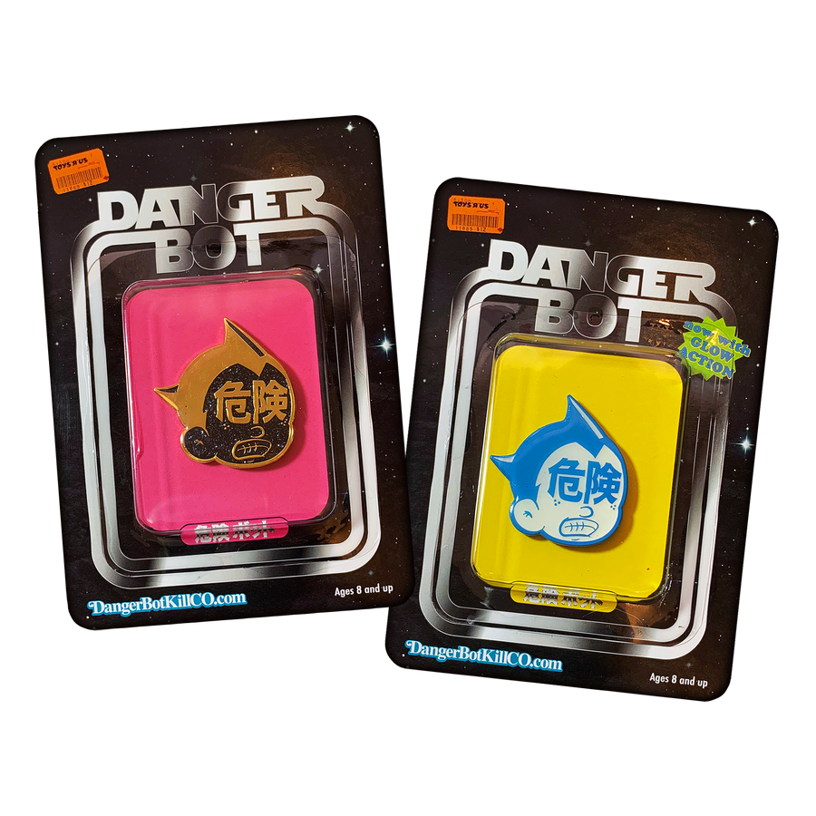 Glow In The Datk Atom Enamel Pin