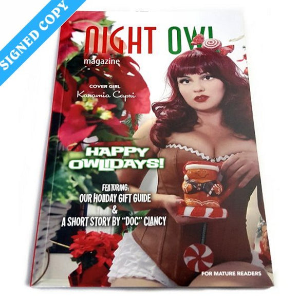 Night Owl #12, Owlidays 2019 - Limited Print Edition - Signed (Holiday Pinup)