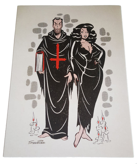 Wizard and Witch 5x7 Mini-Poster - Shubina Art (Pinup, Horror)