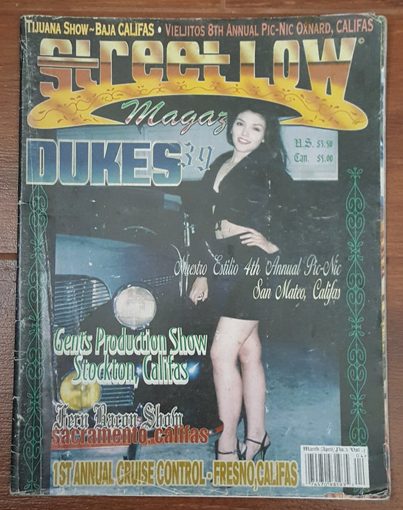 Streetlow Magazine V1 #3, March/April 1999 - Out of Print - Damaged Copy