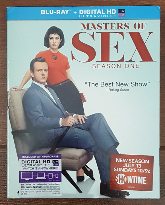 Masters of Sex Season 1 Blu Ray (w/ Slipcase)