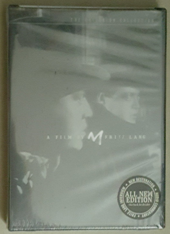 Fritz Lang's M Criterion Collection DVD (Shrink-wrapped)