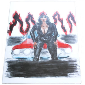 Hell Camino 5x7 Mini-Poster - Pfeifer Art (Retro Devil Girl)