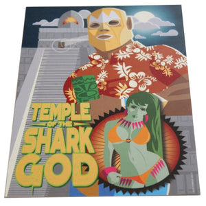 Temple of the Shark God 5x7 Mini-Poster - Forgus Art (Tiki, Luchador, Pinup)