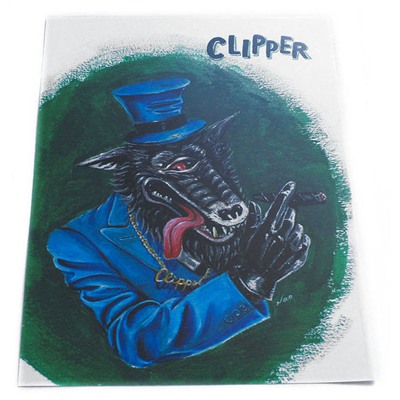 The Clipper 5x7 Mini-Poster - Nao Art (Retro Wolf, Monster)
