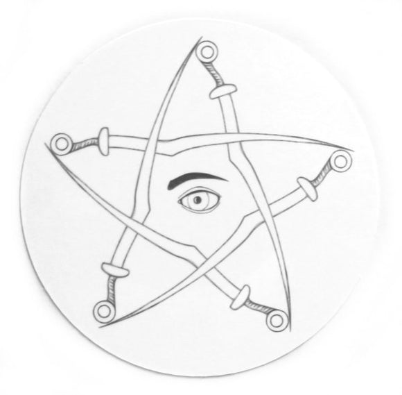 Silver Sabremen Sticker (Retro, Occult)