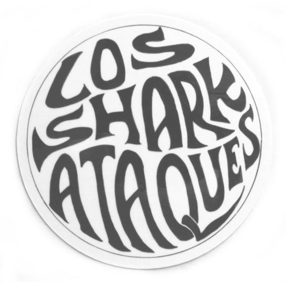 Los Sharkataques Sticker (Surf Rock)