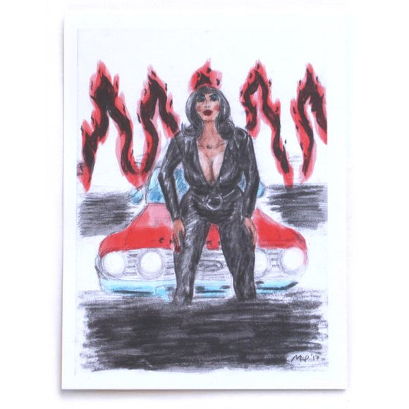 Hell Camino Sticker - Pfeifer Art (Retro Devil Girl)