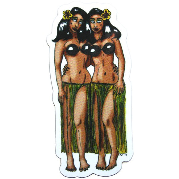 Tiki Trap Sticker (Tiki, Pinup, Monsters)