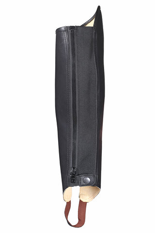 Black Synthetic Leather Comfort Durable Lightweight Horse Rider chaps - Lesa Collection