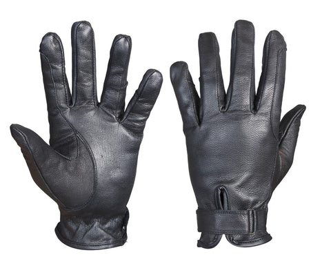 Black Real Leather Comfort Durable Lightweight Horse Rider Gloves - Lesa Collection