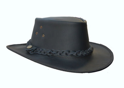 Leather Cowboy Western Australian Outback  Style Bush Hat - Lesa Collection