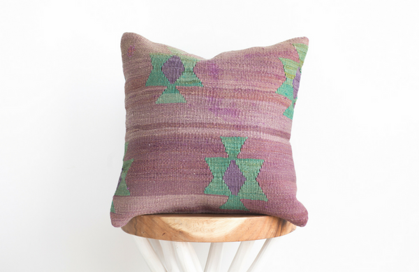 Turkish Kilim Pillow 16x16