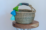 Mini Seagrass Tassel Basket
