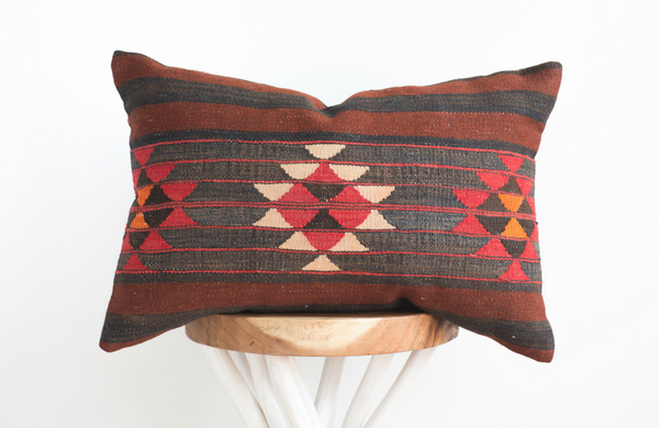 Turkish Geo Boho Pillow 16x24