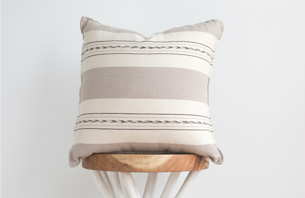 Stripe Natural Pillow 20x20