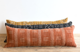 African Mud Cloth Pillow 12x36