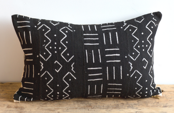 African Mud Cloth Pillow 13x22