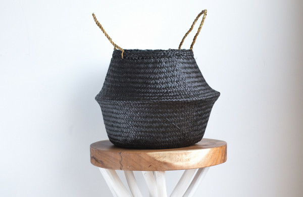 Small Black Belly Basket