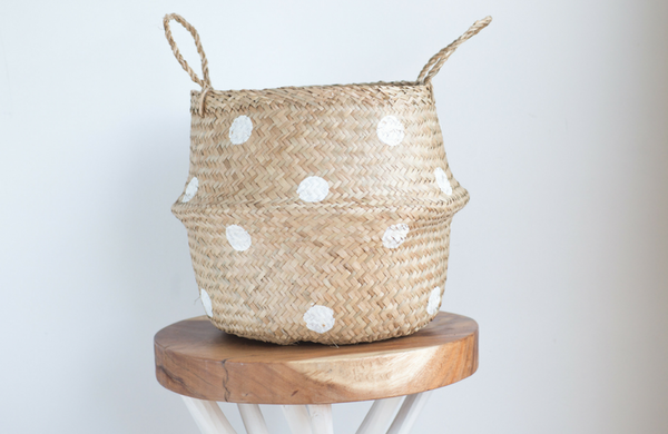 Small Polkadot Belly Basket
