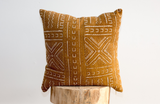 African Mud Cloth Pillow 18x18