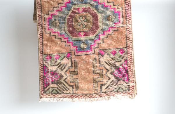 Vintage Turkish Mat 2.9 x 1.8