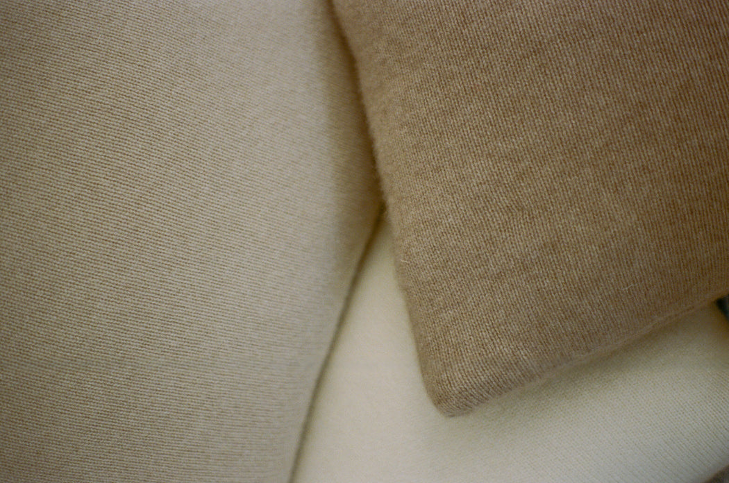 Italian Cashmere Jersey Knit Down Pillow - Cloud