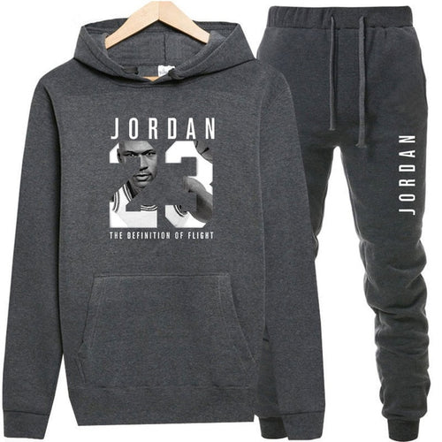 5ef5c666 New 2018 Brand Tracksuit Fashion JORDAN 23 Men Sportswear Two Piece Sets  All Cotton Fleece Thick