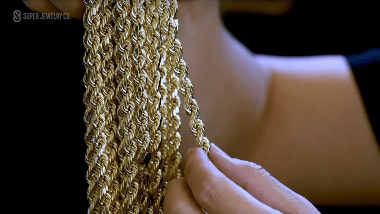 hollow versus solid gold rope chain strength