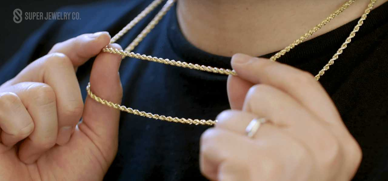 hollow versus solid gold rope chain