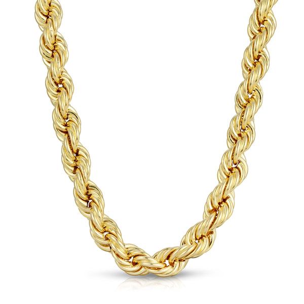 10.0MM ROPE - HOLLOW 10K GOLD CHAIN