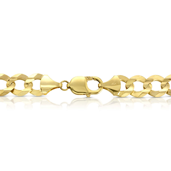 11.0MM CUBAN LINK (FLAT CURB) - SOLID 10K GOLD CHAIN