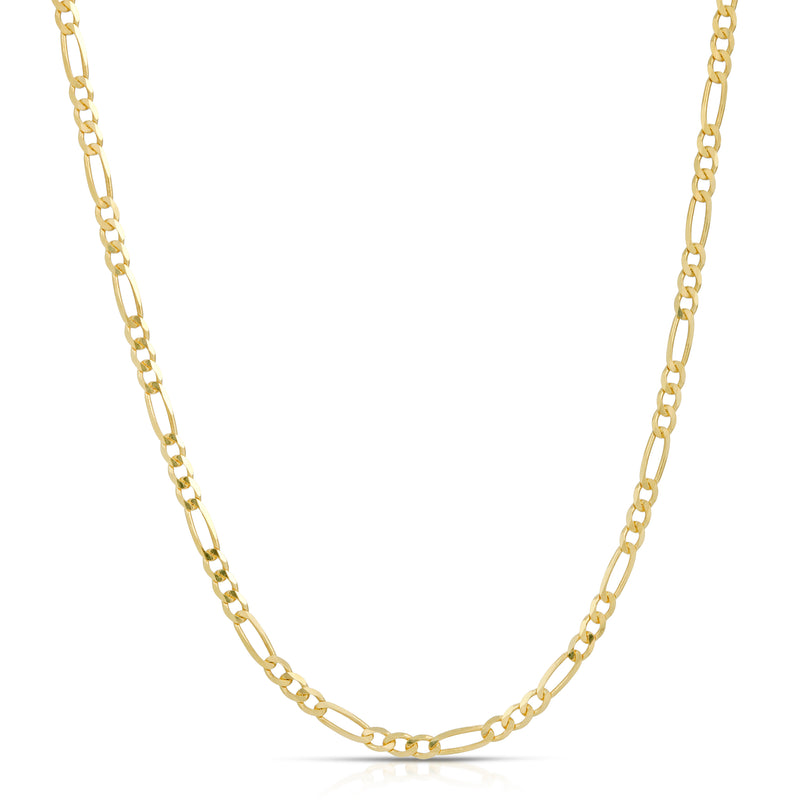 2.0MM FIGARO - SOLID 14K GOLD CHAIN