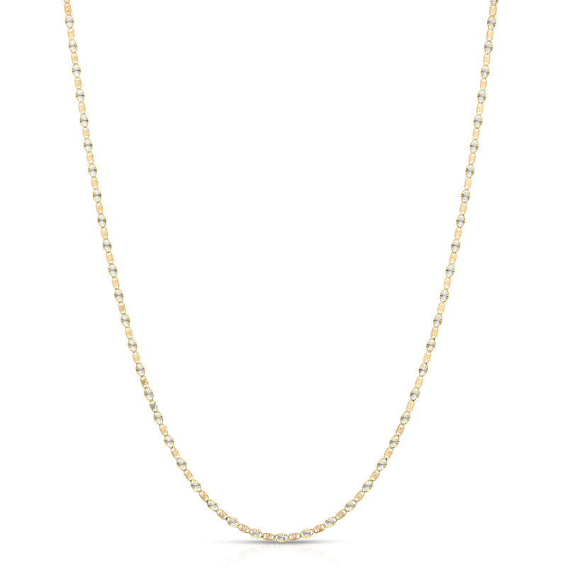 2.0MM VALENTINO - SOLID 14K GOLD CHAIN