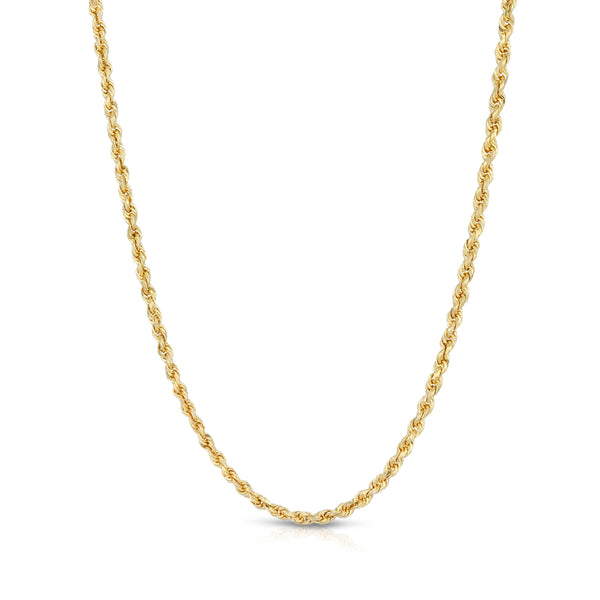 2.5MM D/C ROPE - HOLLOW 10K GOLD CHAIN