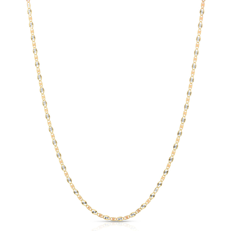 2.5MM VALENTINO - SOLID 14K GOLD CHAIN
