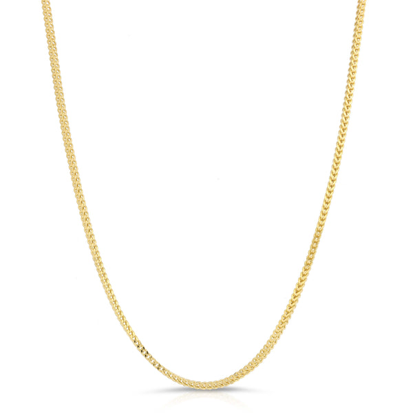 2.5MM FRANCO - HOLLOW 14K GOLD CHAIN