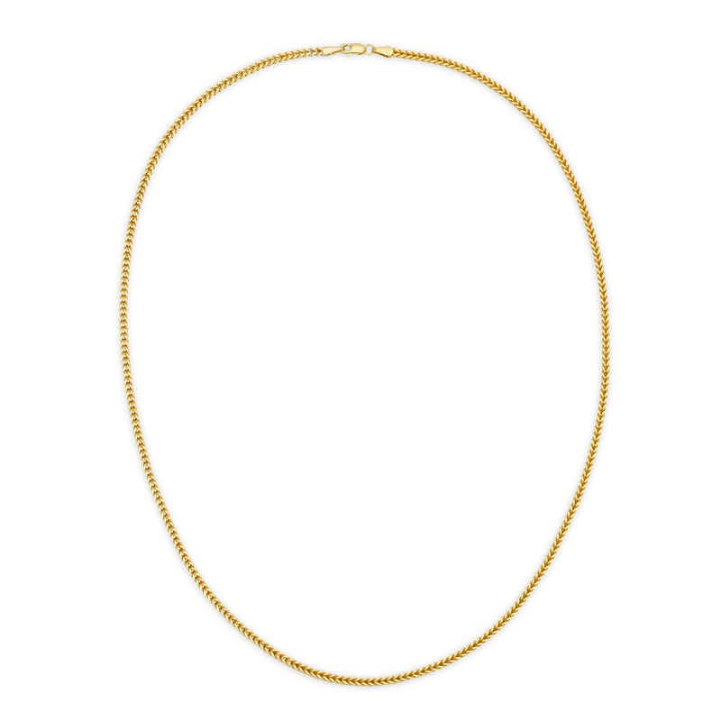 2.5MM FRANCO - HOLLOW 10K GOLD CHAIN
