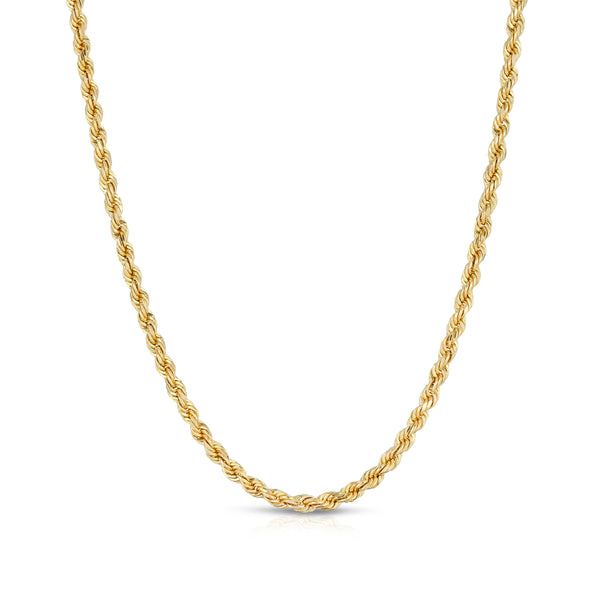 3.0MM D/C ROPE - HOLLOW 10K GOLD CHAIN