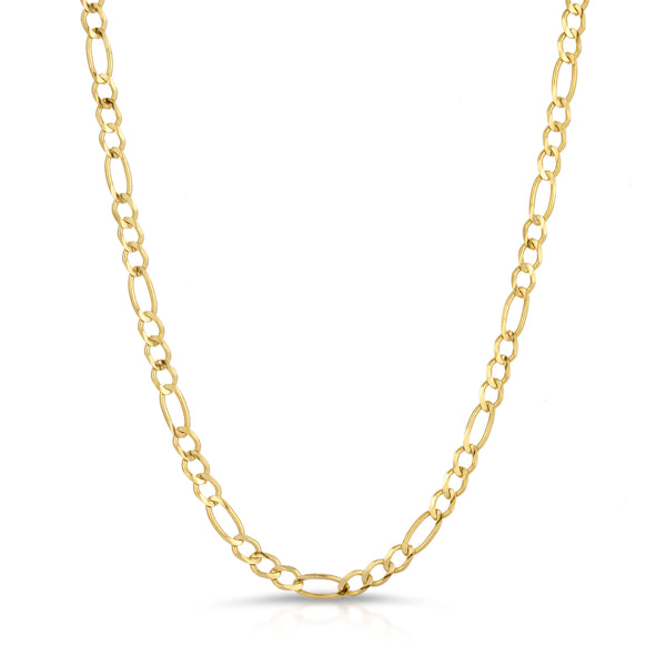 3.0MM FIGARO - SOLID 10K GOLD CHAIN