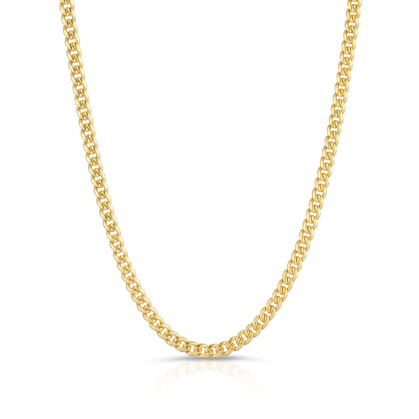 3.0MM MIAMI CUBAN LINK - SOLID 10K GOLD CHAIN